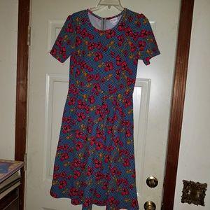 Lularoe floral dress, size L